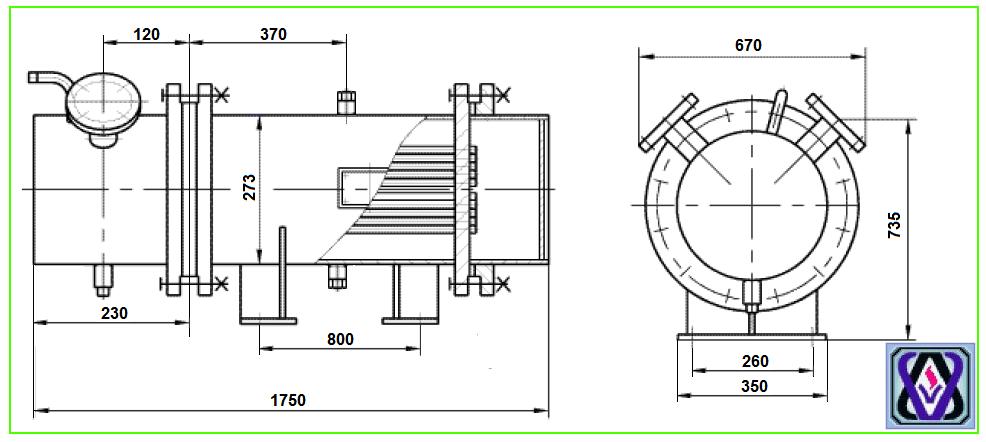 Теплообменник q=5-10 т/ч теплообменники жесткотрубные